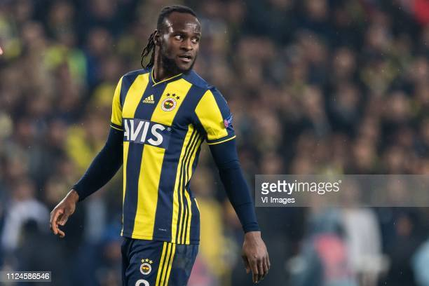 Victor Moses of Fenerbahce SK during the UEFA Europa League round of 32 match between Fenerbahce AS and FK Zenit St Petersburg at the Sukru Saracoglu...
