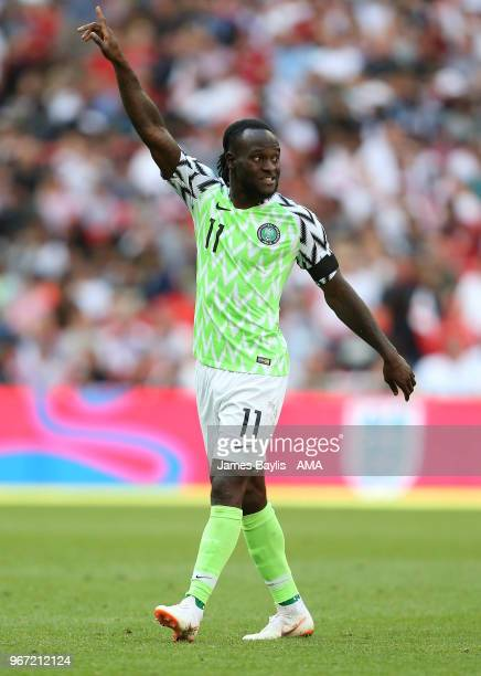 Victor Moses of Nigeria during the International Friendly between England and Nigeria at Wembley Stadium on June 2 2018 in London England