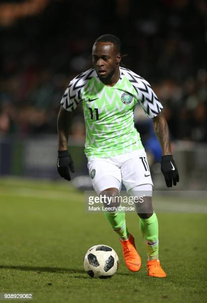Victor Moses of Nigeria during the International Friendly match between Nigeria and Serbia at The Hive on March 27 2018 in Barnet England