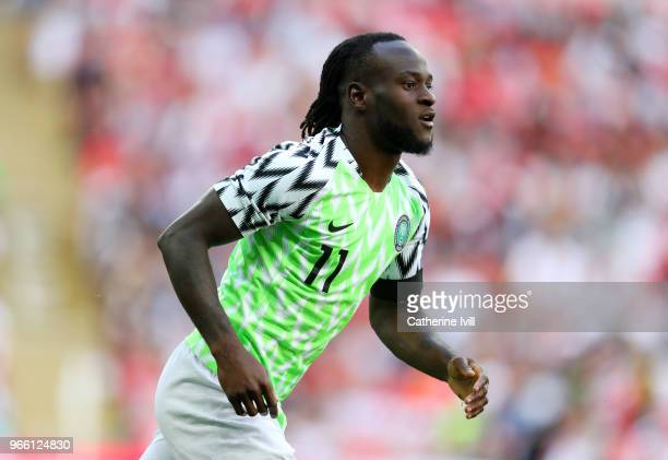 Victor Moses of Nigeria during the International Friendly match between England and Nigeria at Wembley Stadium on June 2 2018 in London England