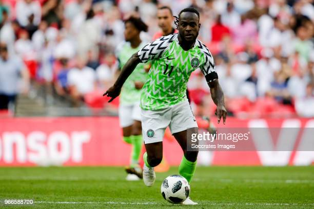Victor Moses of Nigeria during the International Friendly match between England v Nigeria at the Wembley Stadium on June 2 2018 in London United...