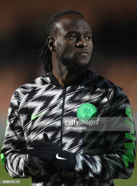 Victor Moses of Nigeria pictured ahead of the International Friendly match between Nigeria and Serbia at The Hive on March 27 2018 in Barnet England