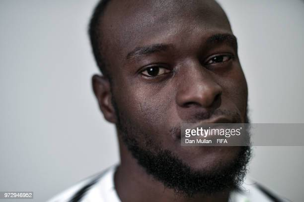 Victor Moses of Nigeria poses for a portrait during the official FIFA World Cup 2018 portrait session on June 12 2018 in Yessentuki Russia