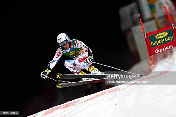 Victor Muffat Jeandet of France competes during the Audi FIS Alpine Ski World Cup Men's Parallel Giant Slalom on December 21 2015 in Alta Badia Italy