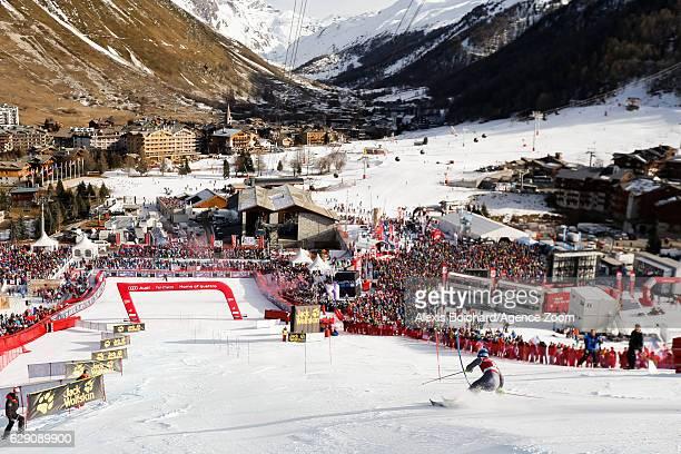 Victor Muffatjeandet of France competes during the Audi FIS Alpine Ski World Cup Men's Slalom on December 11 2016 in Vald'Isere France