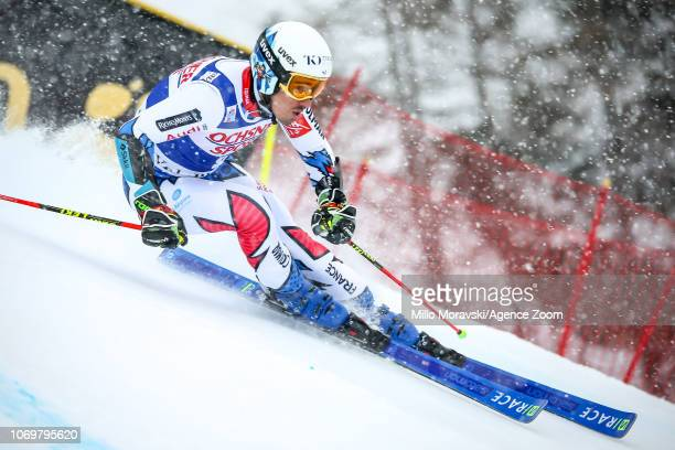 Victor Muffat-jeandet of France during the Audi FIS Alpine Ski World Cup Men's Giant Slalom on December 8, 2018 in Val d'Isère France.