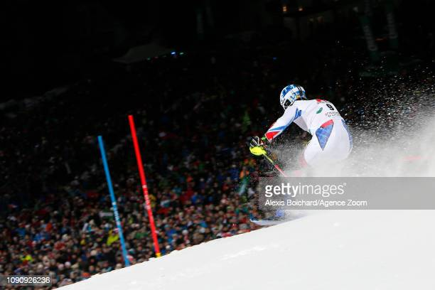 Victor Muffatjeandet of France in action during the Audi FIS Alpine Ski World Cup Men's Slalom on January 29 2019 in Schladming Austria