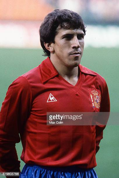 Victor Munoz during the Football European Championship between Romania and Spain at Stade Geoffroy Guichard SaintEtienne France on 14 June 1984