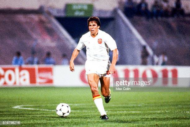 Victor Munoz of Spain during the Football European Championship between Portugal and Spain Marseille France on 17 June 1984
