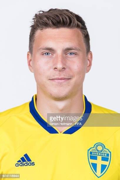 Victor Nilsson Lindeloef of Sweden poses during the official FIFA World Cup 2018 portrait session on June 13 2018 in Gelendzhik Russia