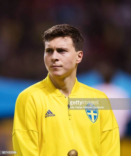 Victor Nilsson Lindelof of Sweden ahead of the International Friendly match between Sweden and Chile at Friends arena on March 24 2018 in Solna Sweden
