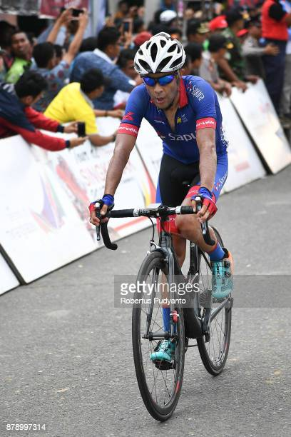 Victor Nino Corredor of Columbia and Team Sapura Cycling Malaysia competes during stage 8 of the Tour de Singkarak 2017 Padang PariamanAgam 1352 km...