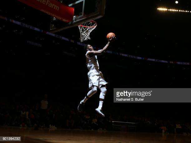 Victor Oladipo of Team LeBron drives to the basket against Team Stephen during the NBA AllStar Game as a part of 2018 NBA AllStar Weekend at STAPLES...