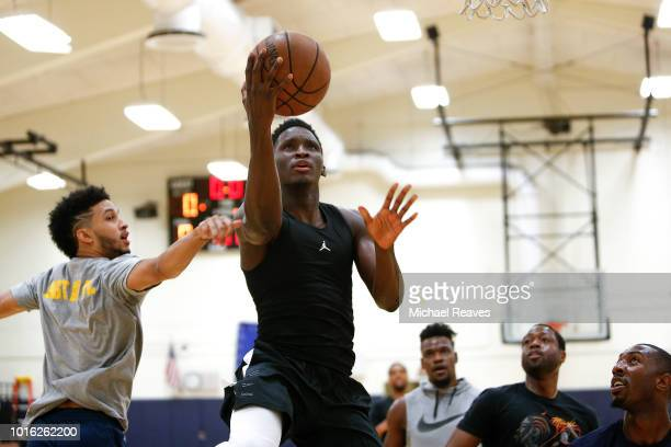 Victor Oladipo of the Indiana Pacers takes part in NBA Offseason training with Remy Workouts on August 8 2018 in Miami Florida