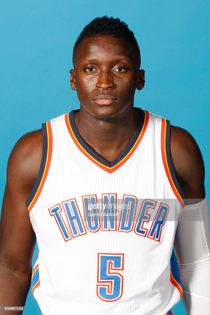 076d3c815caf Victor Oladipo of the Oklahoma City Thunder poses for a head shot ...