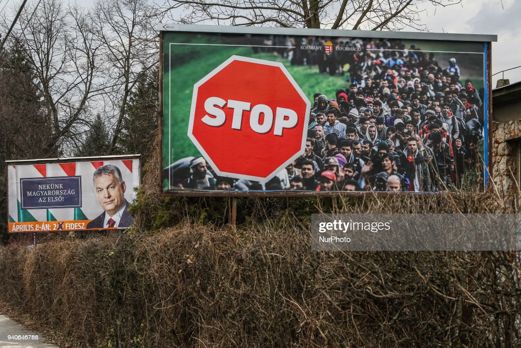 Victor Orban electoral posters illegal : News Photo