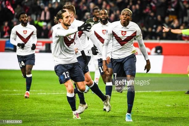 Victor OSIMHEN of Lille during the Ligue 1 match between Lille and Dijon at Grand Stade Lille Métropole on November 30, 2019 in Lille, France.