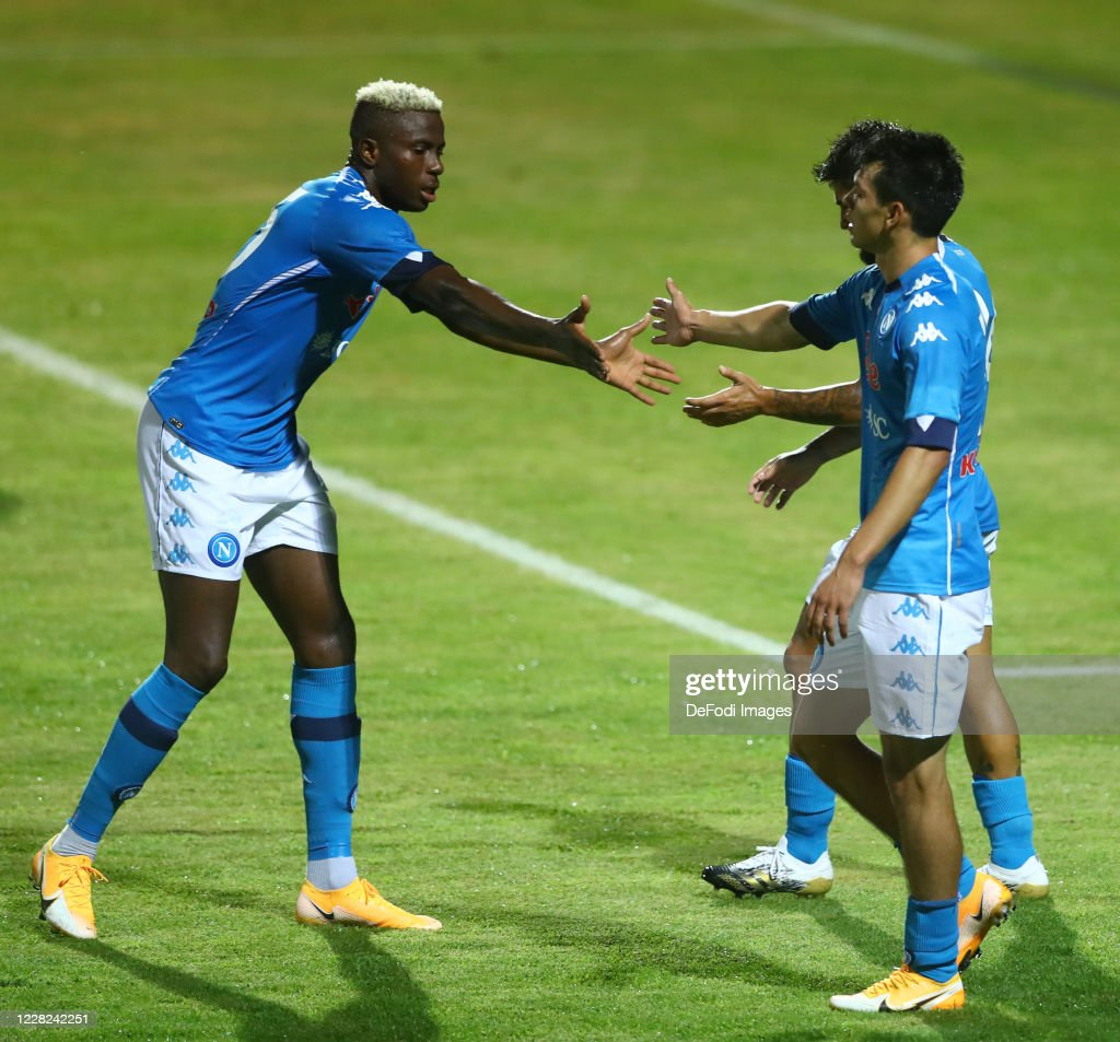Victor Osimhen Of Napoli Dries Mertens Of Napoli And Hirving Lozano News Photo Getty Images