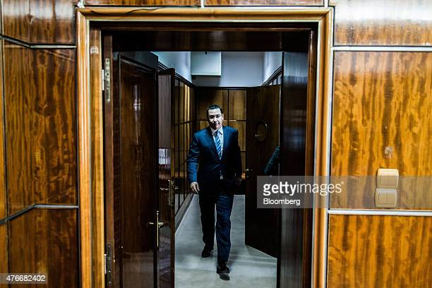 Victor Ponta Romania's prime minister arrives for an interview at the Victoria Palace in Bucharest Romania on Thursday June 11 2015 A protracted...