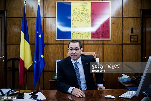 Victor Ponta Romania's prime minister pauses during an interview at the Victoria Palace in Bucharest Romania on Thursday June 12 2014 Romania is...