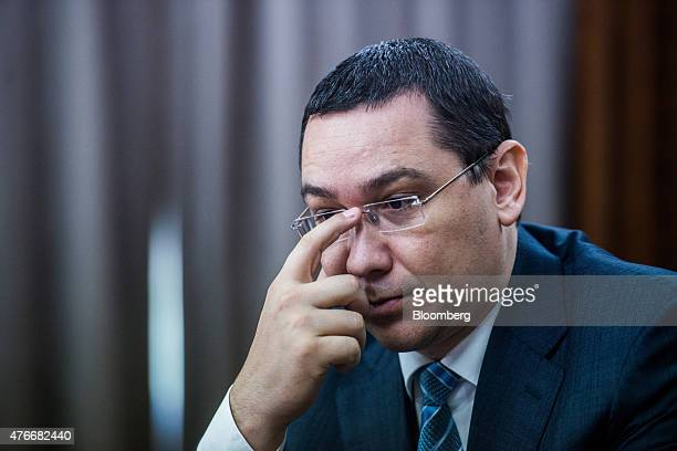 Victor Ponta Romania's prime minister pauses during an interview at the Victoria Palace in Bucharest Romania on Thursday June 11 2015 A protracted...