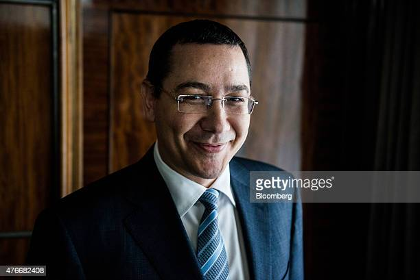 Victor Ponta Romania's prime minister poses for a photograph following an interview at the Victoria Palace in Bucharest Romania on Thursday June 11...