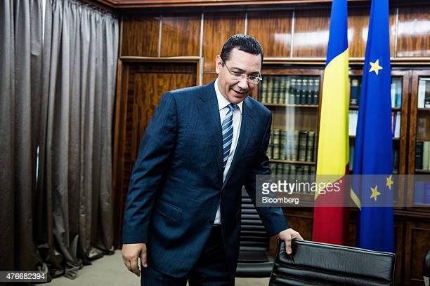 Victor Ponta Romania's prime minister prepares for an interview at the Victoria Palace in Bucharest Romania on Thursday June 11 2015 A protracted...