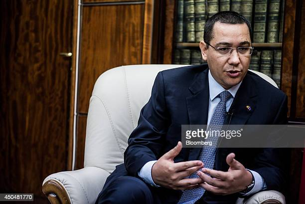 Victor Ponta Romania's prime minister speaks during an interview at the Victoria Palace in Bucharest Romania on Thursday June 12 2014 Romania is...