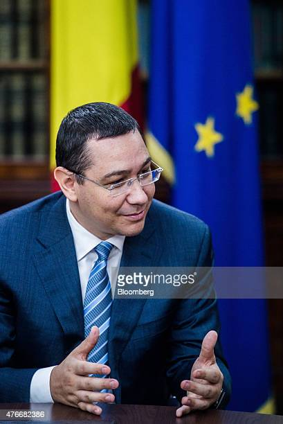 Victor Ponta Romania's prime minister speaks during an interview at the Victoria Palace in Bucharest Romania on Thursday June 11 2015 A protracted...