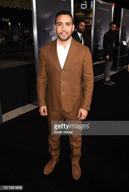 Victor Rasuk arrives at the premiere of Warner Bros Pictures' The Mule at the Village Theatre on December 10 2018 in Los Angeles California