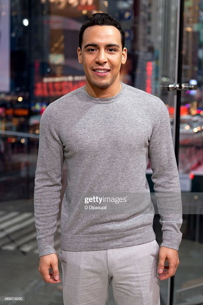 Victor Rasuk visits 'Extra' at their New York studios at H&M in Times Square on February 9, 2015 in New York City.