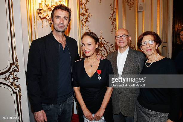 Victor Robert and Laurence Haim at Laurence Haim Is Honoured With The Insignes De Chevalier De La Legion D'Honneur at Salons FranceAmeriques on...
