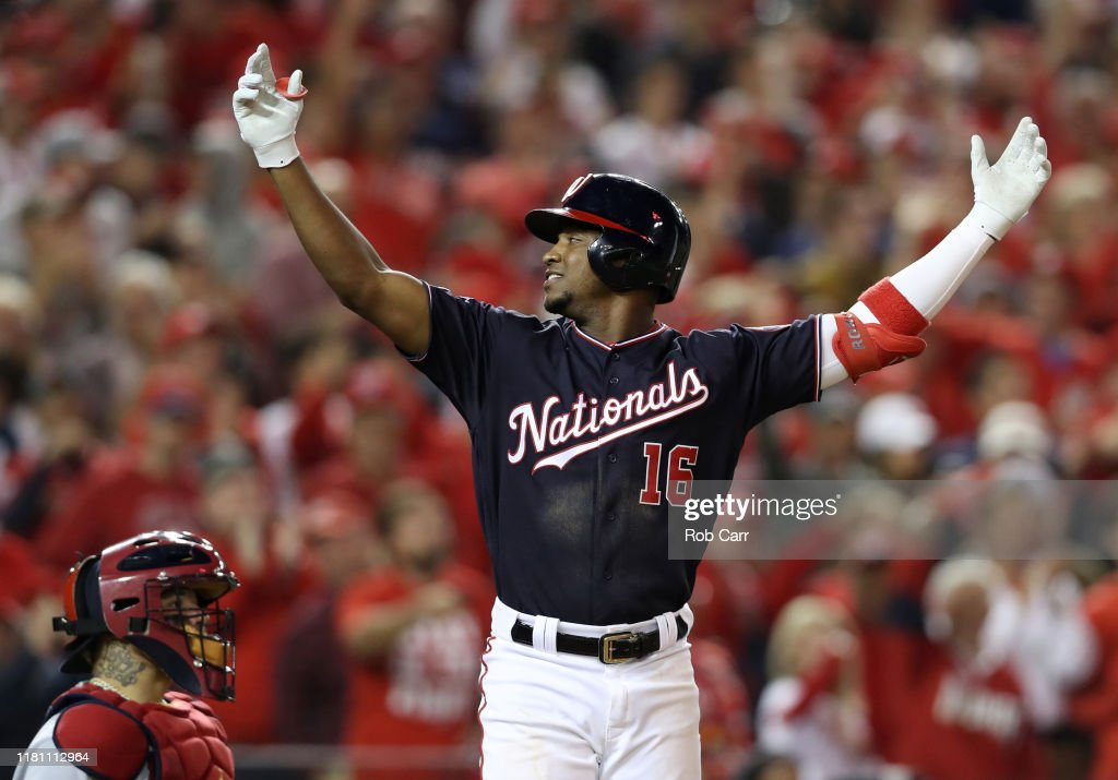 League Championship Series - St Louis Cardinals v Washington Nationals - Game Three : News Photo
