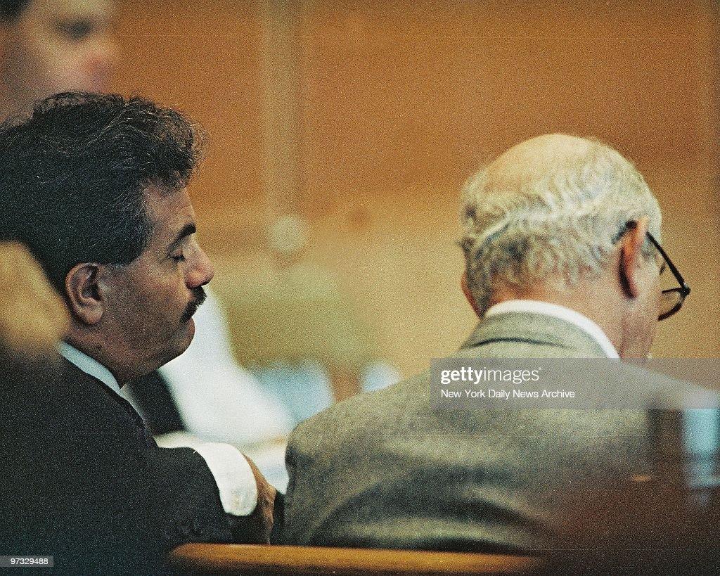 Victor Ruggiero and Mike DiSalvatore, Defense investigators  : News Photo