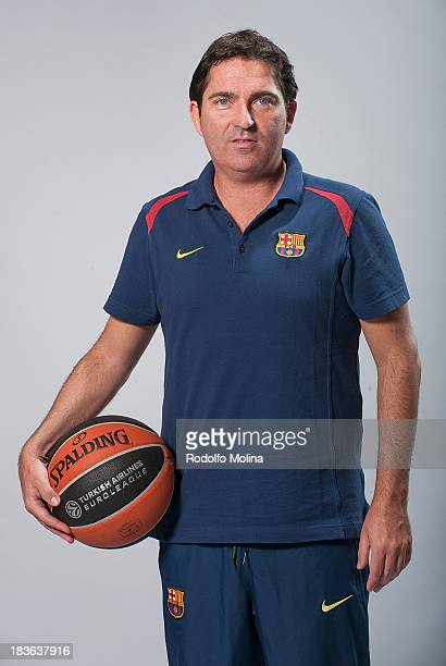 Victor Sada #8 of FC Barcelona poses during the FC Barcelona 2013/14 Turkish Airlines Euroleague Basketball Media Day at Palau Blaugrana on October 7...