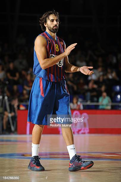 Victor Sada #8 of FC Barcelona Regal in action during the 20122013 Turkish Airlines Euroleague Regular Season Game Day 1 between FC Barcelona Regal v...