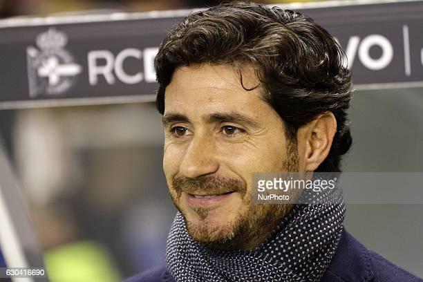 Victor Sanchez del Amo during the spanish Copa del Rey match between Real Club Deportivo de La Coruña vs Real Betis Balompie at Estadio Municipal de...