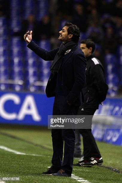 Victor Sanchez del Amo reacts during the spanish Copa del Rey match between Real Club Deportivo de La Coruña vs Real Betis Balompie at Estadio...