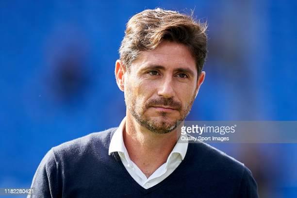 Victor Sanchez Del Amo the manager of Malaga CF looks on prior to the La Liga Smartbank match between Deportivo de La Coruna and Malaga CF at Abanca...