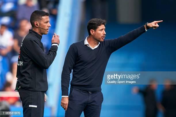 Victor Sanchez Del Amo the manager of Malaga CF reacts during the La Liga Smartbank match between Deportivo de La Coruna and Malaga CF at Abanca...