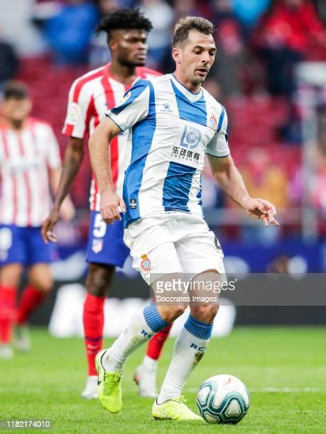 Victor Sanchez of Espanyol during the La Liga Santander match between Atletico Madrid v Espanyol at the Estadio Wanda Metropolitano on November 10...