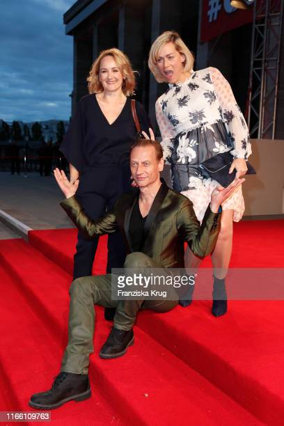 Victor Schefe Katharine Mehrling and Gesine Cukrowski during the IFA 2019 opening gala at Messe Berlin on September 5 2019 in Berlin Germany