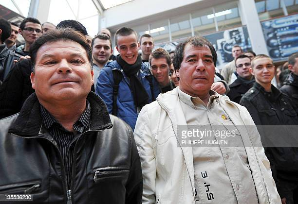 Victor Segovia and Pablo Rojas two of the 33 Chilean miners rescued who remained buried 700 metres underground inside the San Jose mine for 70 days...