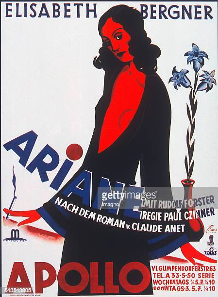 Victor Th Slama Poster for movie Ariane in Vienna Apollo Cinema 1931 Colour lithograph Printing Papier und Blechindustrie