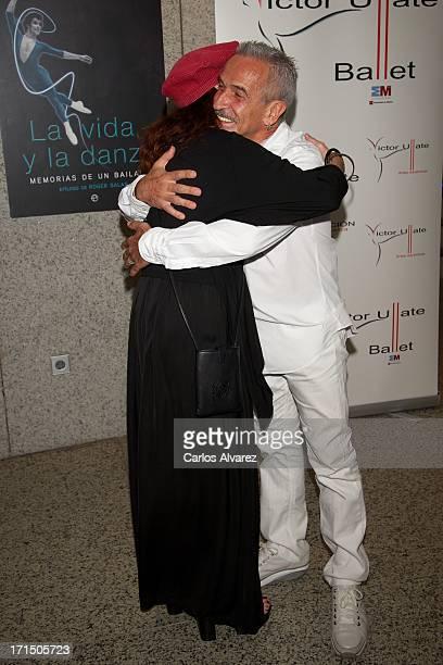 Victor Ullate and Spanish actress Veronica Forque attend the La Vida y La Danza book presentation at the El Canal Theater on June 25 2013 in Madrid...