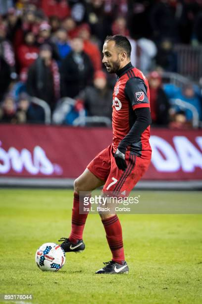 Victor Vazquez of Toronto FC takes a moment to study the pitch during the 2017 Audi MLS Championship Cup match between Toronto FC and Seattle...