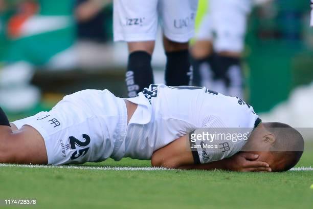 Victor Velazquez of Juarez laments during the 9th round match between Leon and FC Juarez as part of the Torneo Apertura 2019 Liga MX at Leon Stadium...