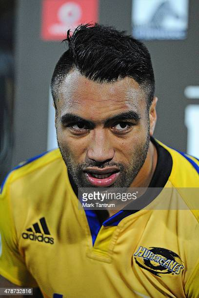 Victor Vito after the Super Rugby Semi Final match between the Hurricanes and the Brumbies at Westpac Stadium on June 27 2015 in Wellington New...