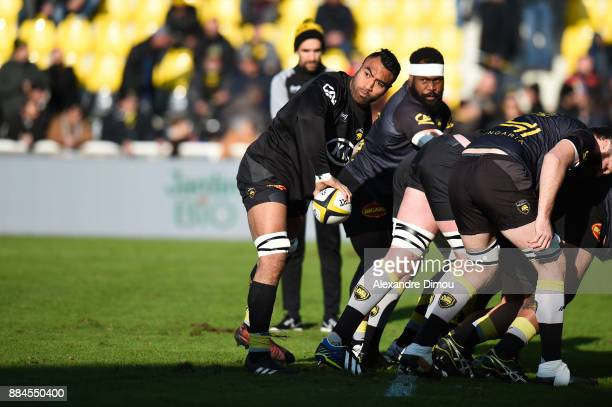 Victor Vito of La Rochelle during the Top 14 match between La Rochelle and Montpellier on December 2 2017 in La Rochelle France