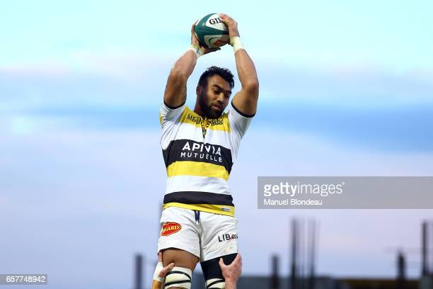 Victor Vito of La Rochelle during the Top 14 match between Pau and La Rochelle on March 25 2017 in Pau France